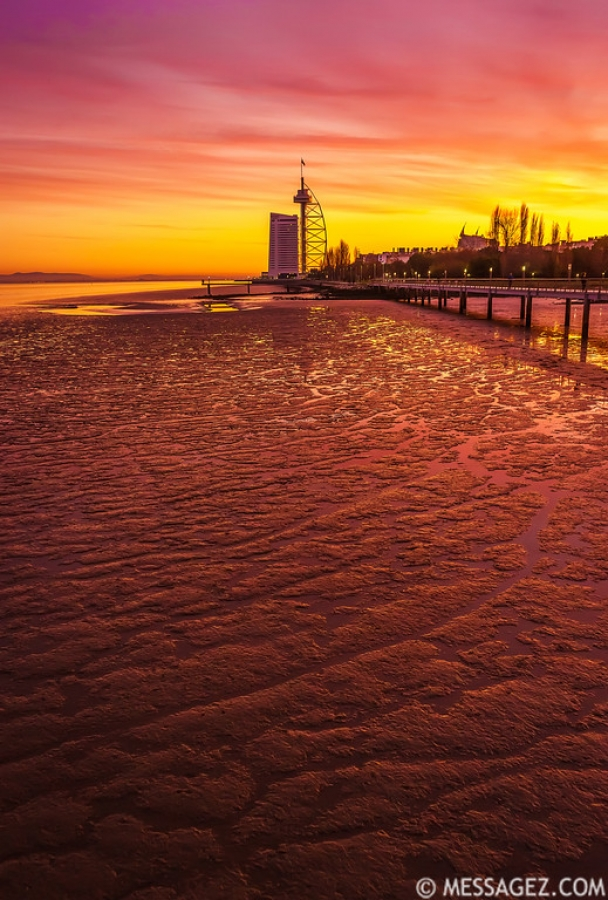 Amazing Lisbon Sunset Light Colors Photography By Messagez.com