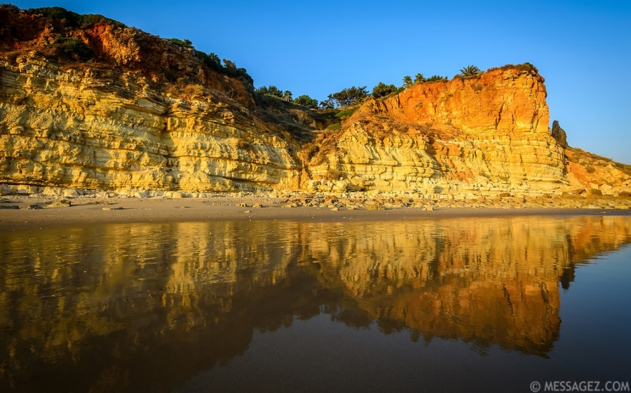 Algarve Beach Reflection Photograph By Messagez.com