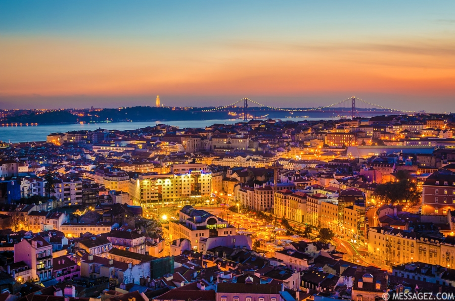Original Lisbon City of Lights Photography By Messagez.com