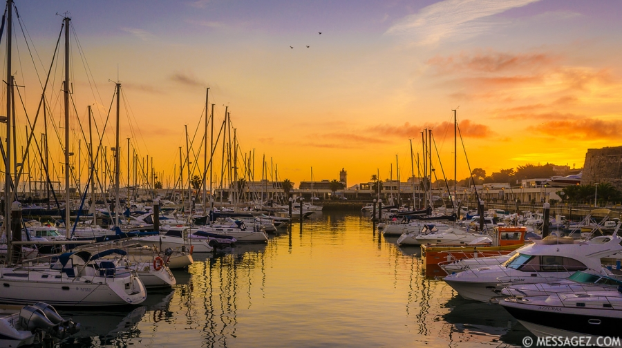 Original Portugal Cascais Marina Sunset Photography By Messagez.com