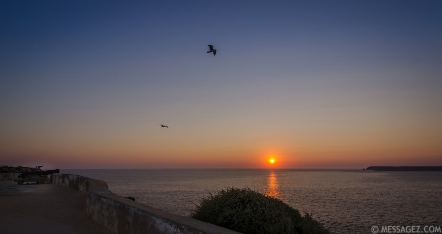 Flying Over Sagres Fortress at Sunset Image By Messagez.com