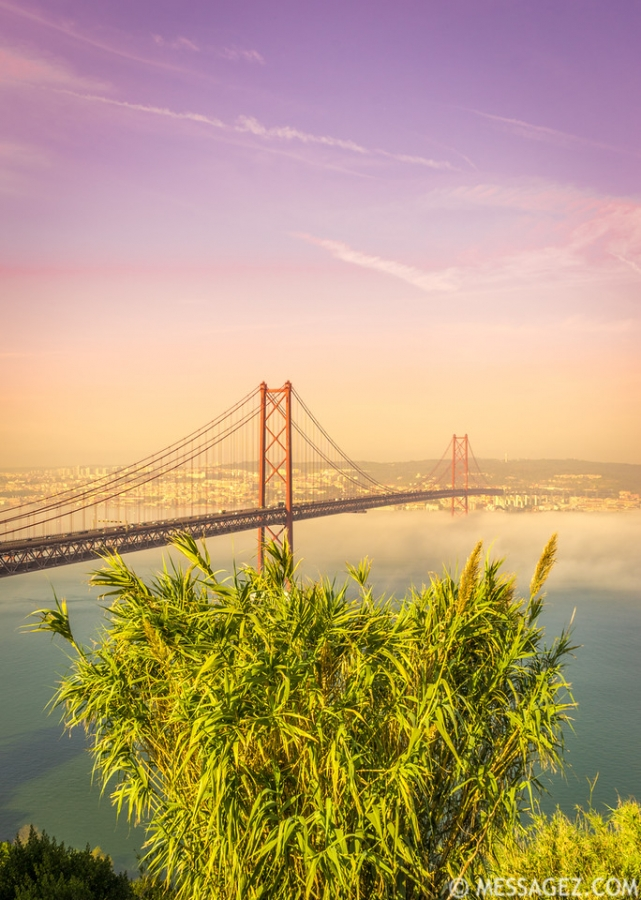 Original Lisbon 25th of April Bridge Landscape Photography 19 By Messagez.com