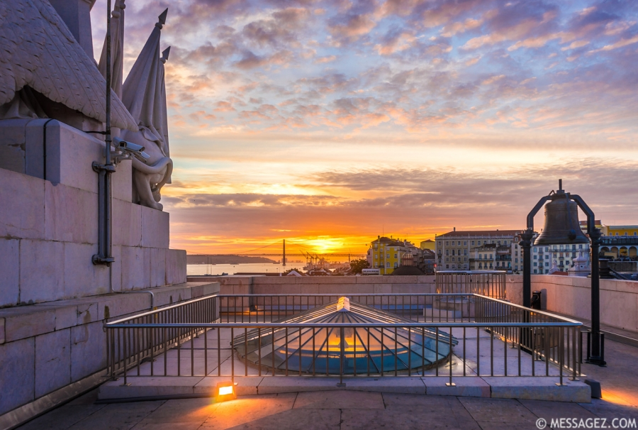 Original Top of The Lisbon Viewpoint at Sunset Photography By Messagez.com