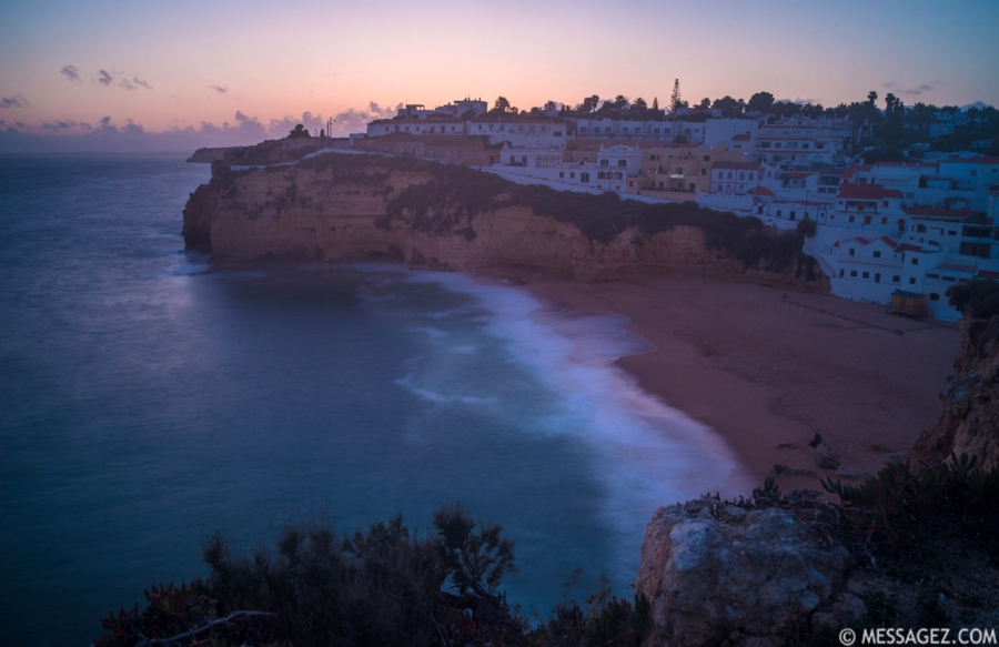 Algarve Carvoeiro Beach Photography 2 at Sunset Messagez.com