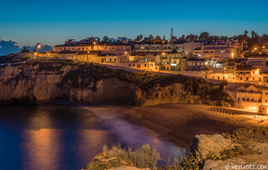 Original Algarve Carvoeiro Beach Photography 2 at Night Messagez.com