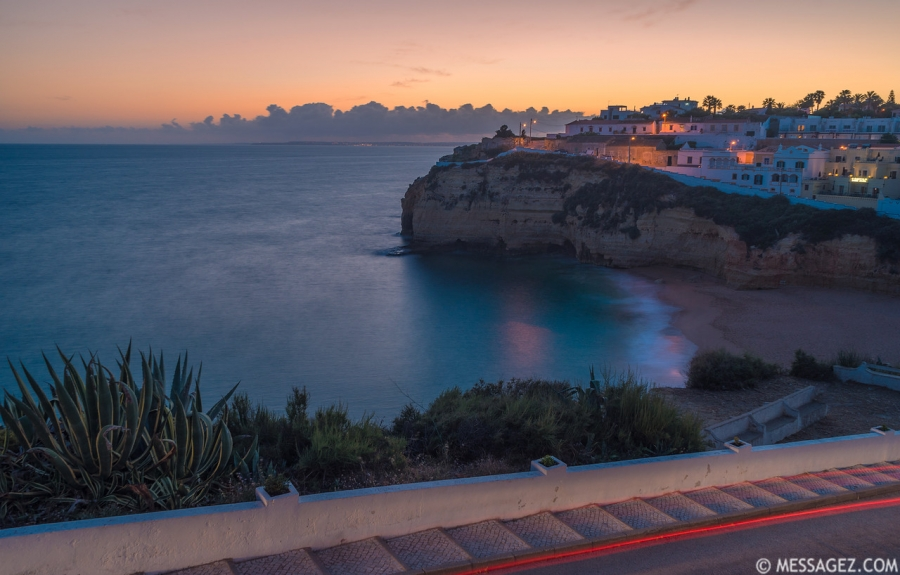 Original Algarve Carvoeiro Beach Photography at Sunset Messagez.com
