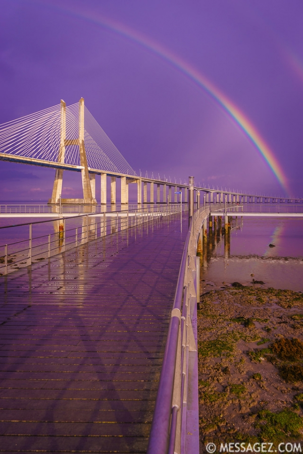 Magical Bridge Rainbow Photography 4 By Messagez.com