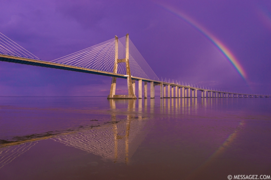 Magical Bridge Rainbow Photography By Messagez.com