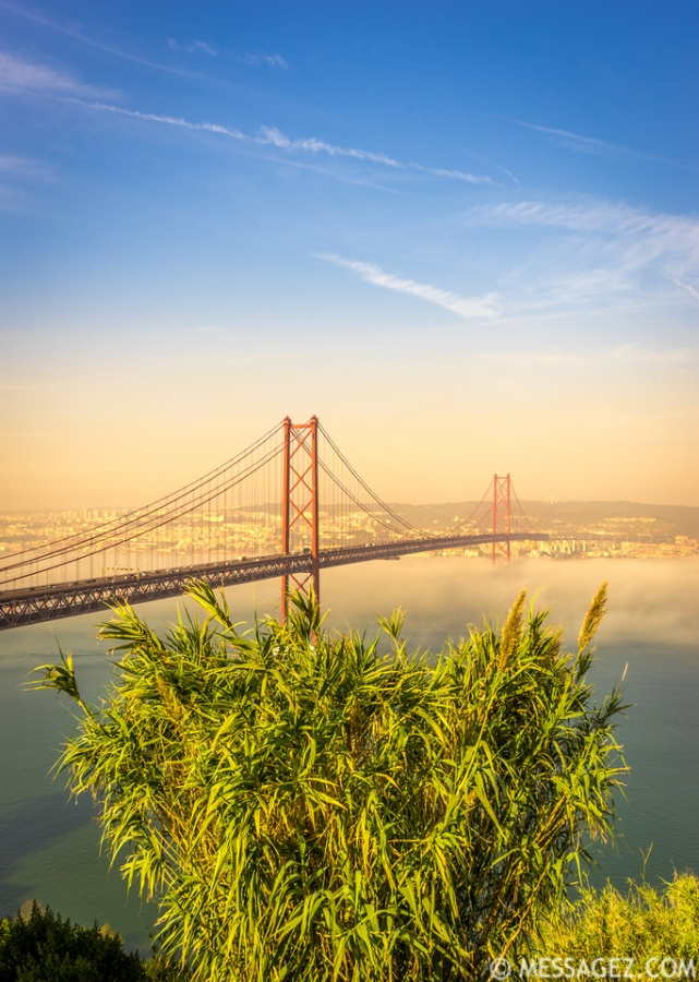 Original Lisbon 25th of April Bridge Landscape Photography 16 By Messagez.com