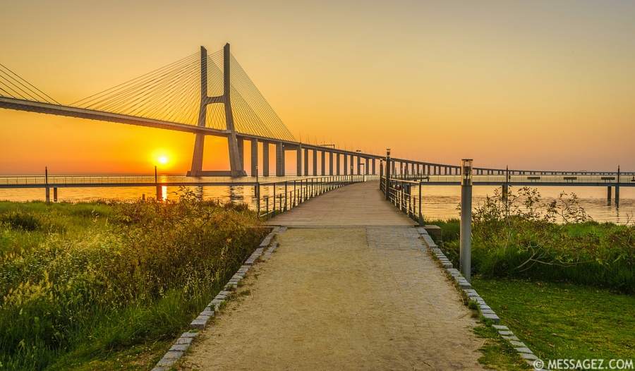Best of Lisbon Bridge Sunrise Photography By Messagez.com