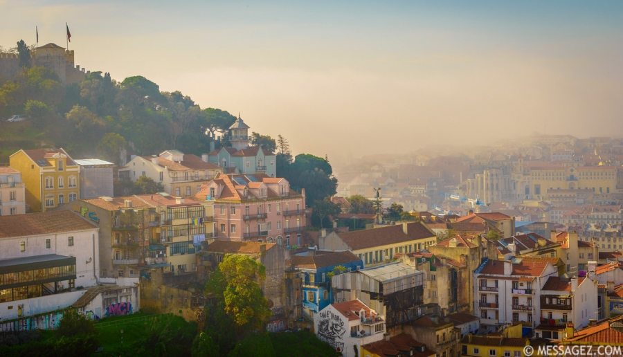 Foggy Lisbon Landscape Photo By Messagez.com