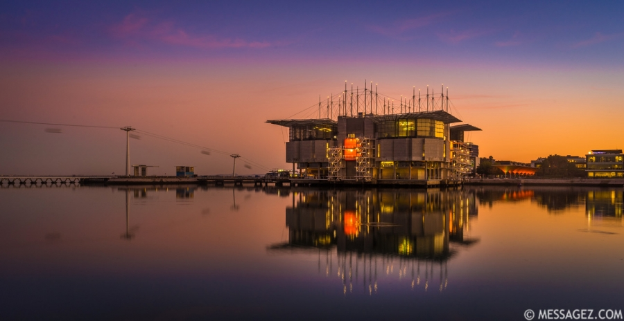 Original Lisbon Oceanarium at Sunset Photography 3 By Messagez.com