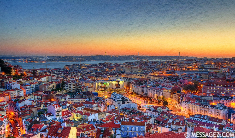 Lisbon Portugal Magic Light Viewpoint Photography