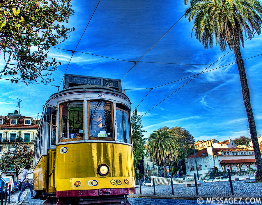 Original Lisbon Tram 28 Photography By Messagez.com