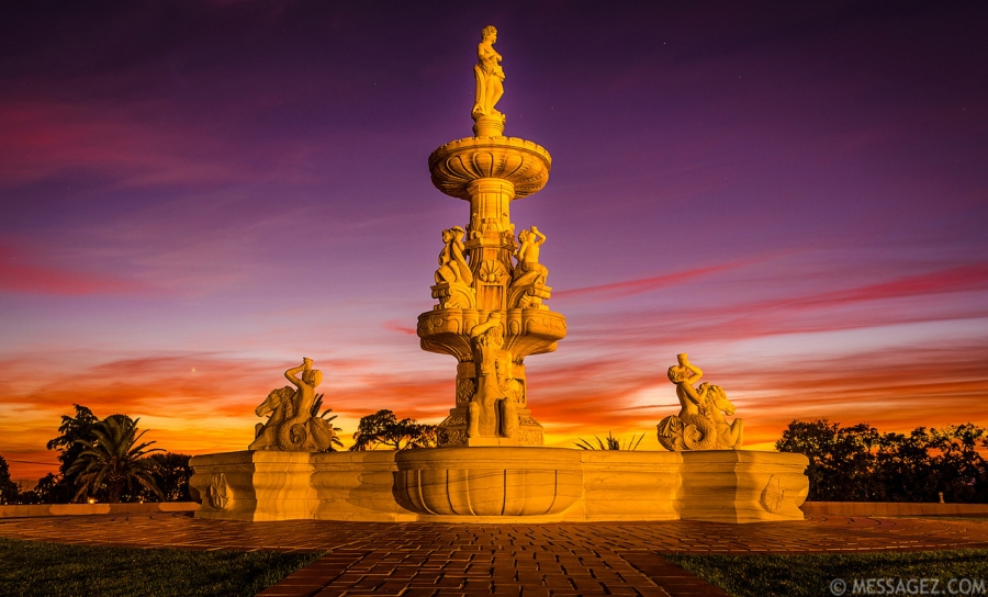 Portugal Fountain of Love at Sunset Photography By Messagez.com