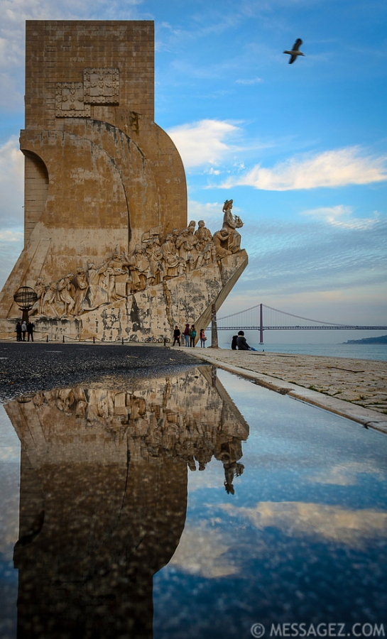 Lisbon Monument to the Discoveries Reflection Photography By Messagez.com