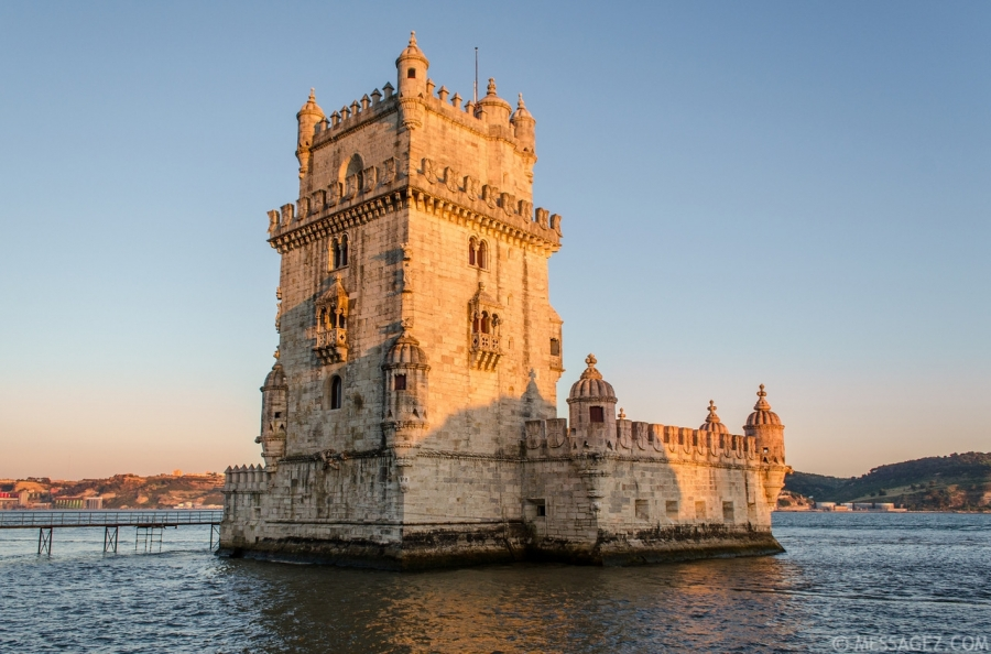 Image of Belem Tower in Lisbon  By Messagez.com