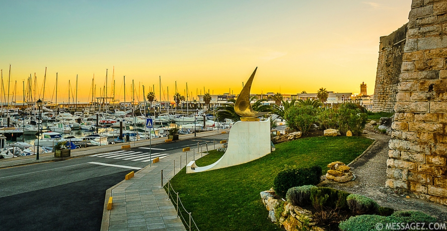 Beautiful Cascais Marina at Sunset Photography By Messagez.com