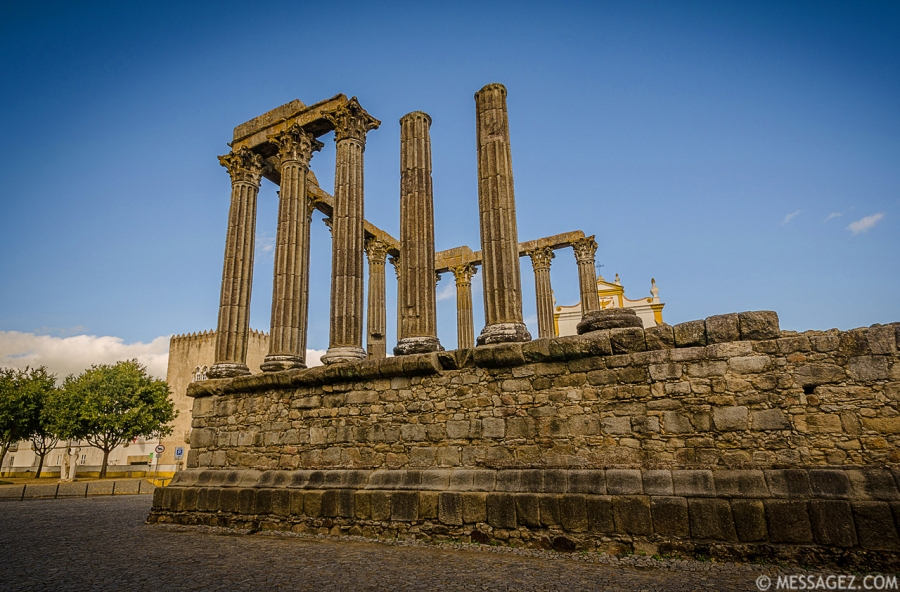 Portugal Roman Temple of Evora Fine Art Photography 2 By Messagez.com