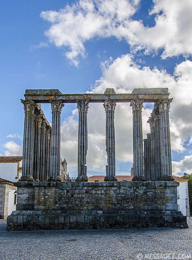 Portugal Roman Temple of Evora Fine Art Photography 3 By Messagez.com