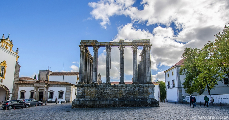 Portugal Roman Temple of Evora Fine Art Photography By Messagez.com