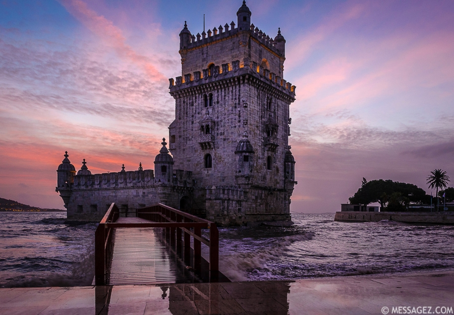 Best of Portugal Lisbon Tower Sunset  Reflections Photography 4 By Messagez.com