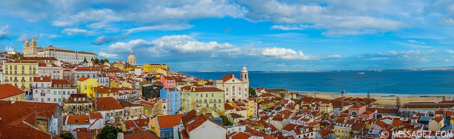 Original Panoramic Lisbon  Art Photography 3 By Messagez.com