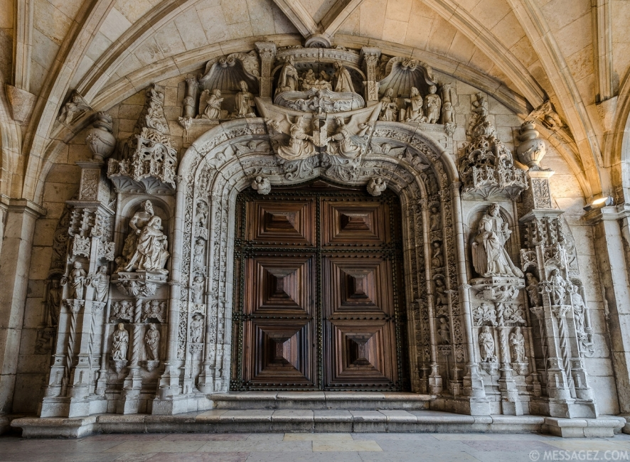 Jeronimos Monastery Entrance By Messagez.com