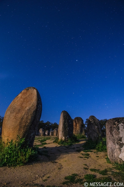 Portugal Cromlech of the Almendres Megalithic Complex Night Photography 20 By Messagez.com