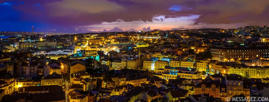 Lisbon Beauty at Night Fine Art Photography 2 By Messagez.com