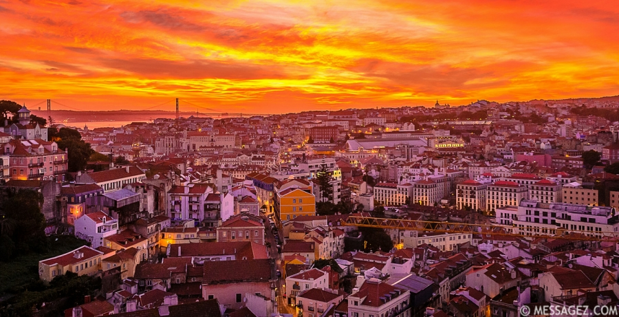 Best of Lisbon Viewpoints at Sunset Photography 2 By Messagez.com