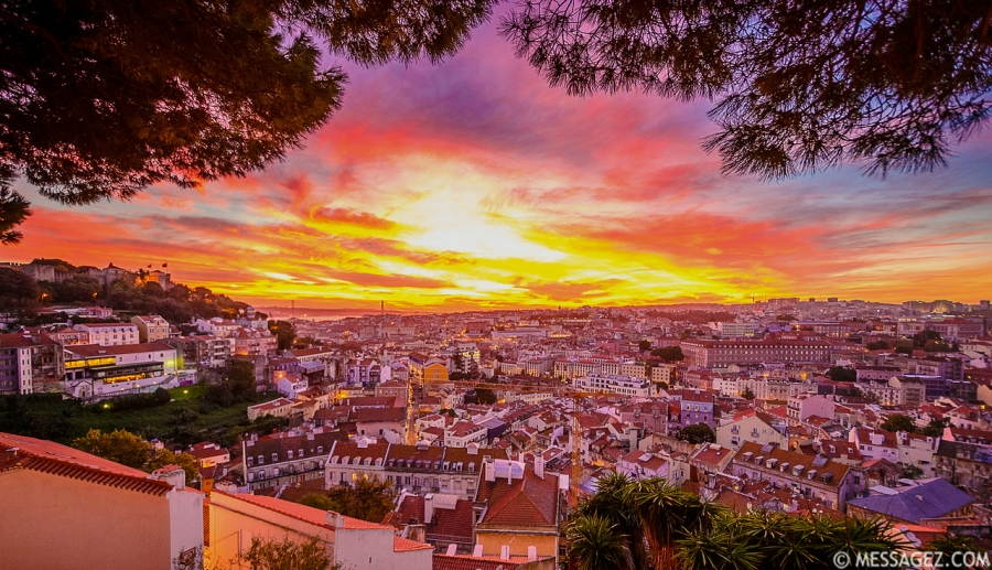 Best of Lisbon Viewpoints at Sunset Photography 3 By Messagez.com