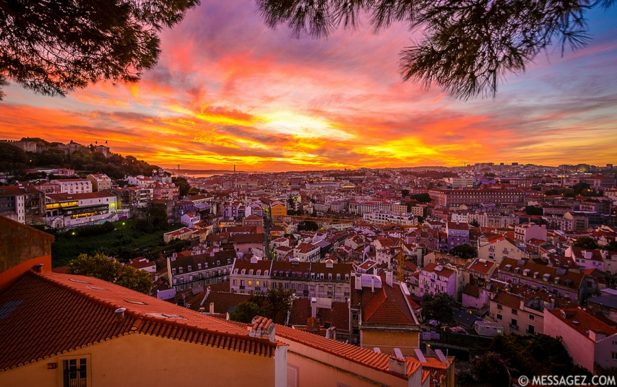 Best of Lisbon Viewpoints at Sunset Photography By Messagez.com
