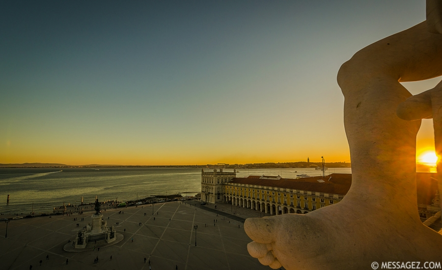 Portugal Lisbon Augusta Street Triumphal Arch Viewpoint Sunset Photography 3 By Messagez.com