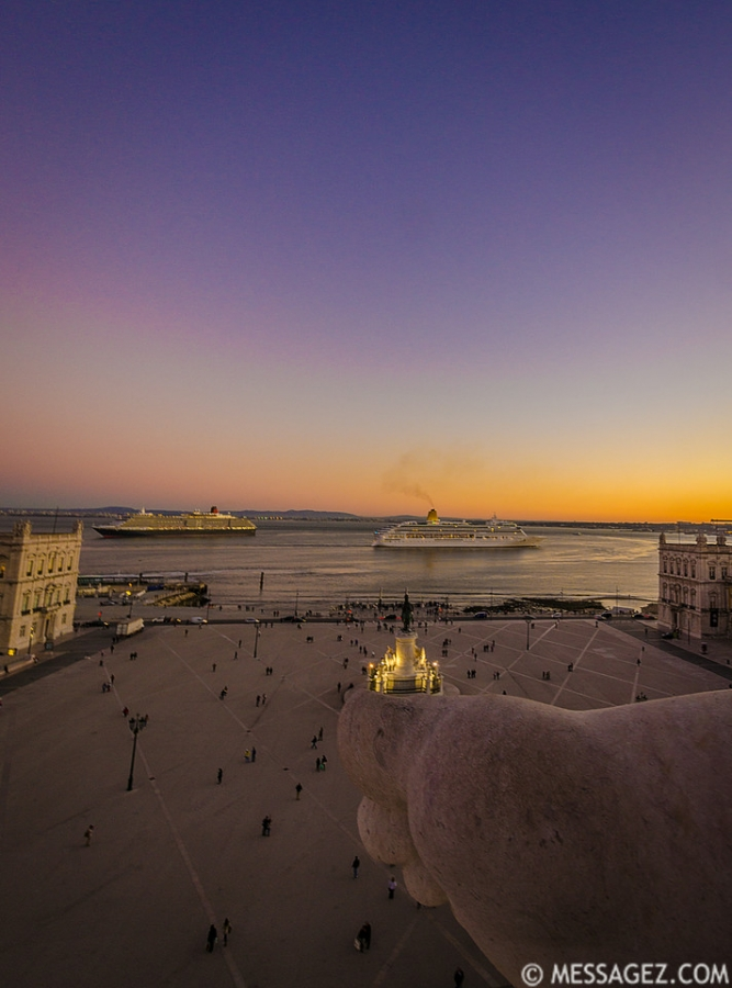 Portugal Lisbon Augusta Street Triumphal Arch Viewpoint Sunset Photography 9 By Messagez.com