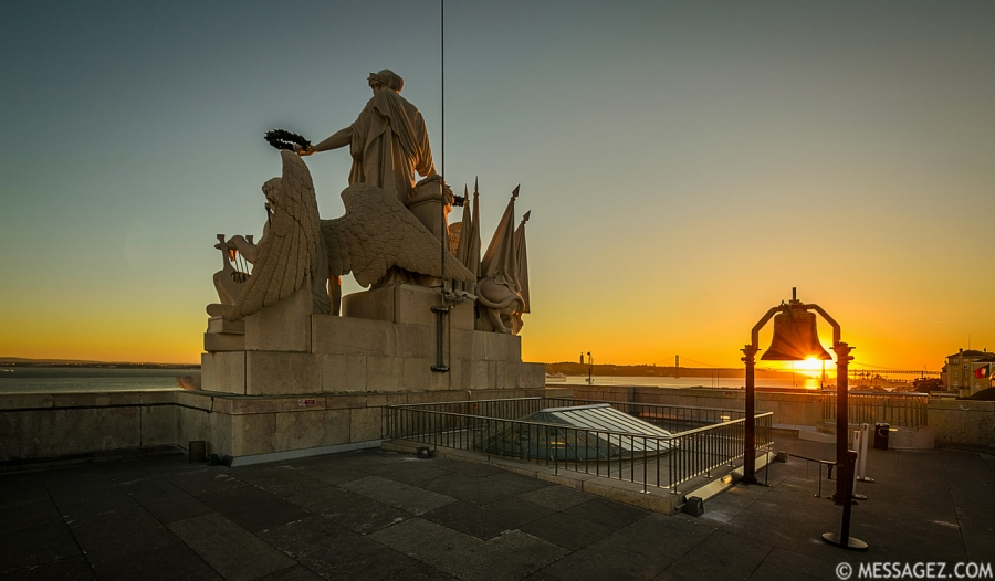 Portugal Lisbon Augusta Street Triumphal Arch Viewpoint Sunset Photography By Messagez.com