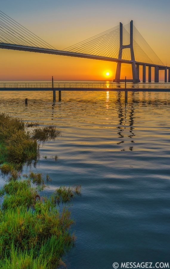 Best of Lisbon Bridge Sunrise Photography 2 By Messagez.com