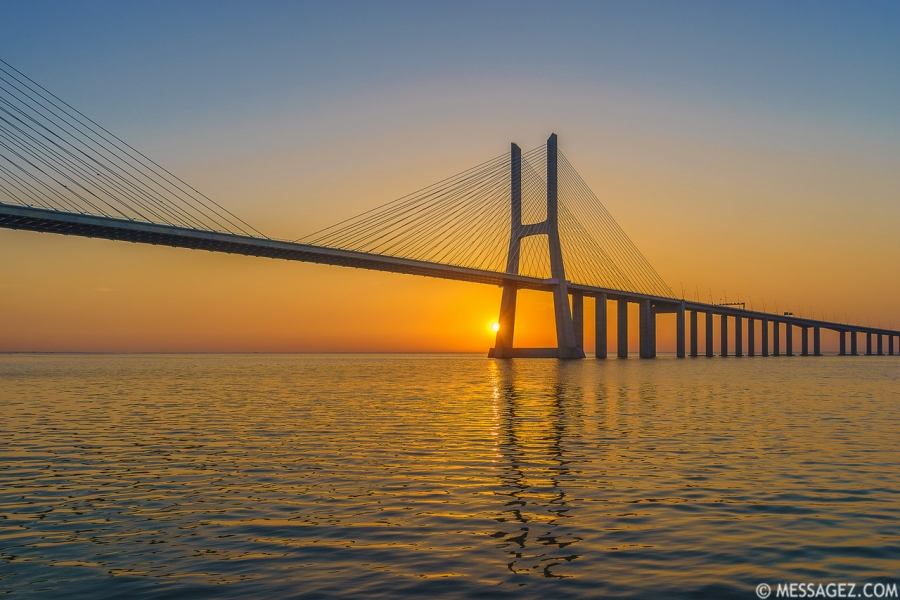 Best of Lisbon Bridge Sunrise Photography 3 By Messagez.com
