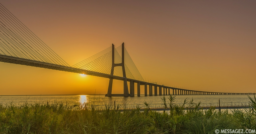 Best of Lisbon Bridge Sunrise Photography 4 By Messagez.com