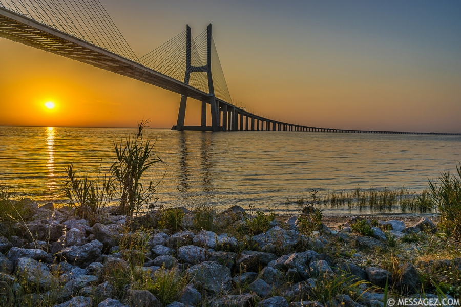 Best of Lisbon Bridge Sunrise Photography 6 By Messagez.com