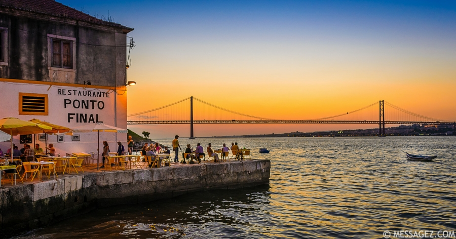 Best of Lisbon Bridge Sunset Photography By Messagez.com