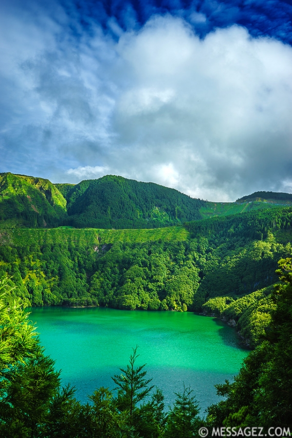 Portugal Azores Magic Green Lagoon Photography 2 By Messagez.com