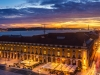 Amazing Lisbon Landscape Light Flow at Sunset Photography By Messagez.com