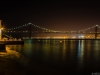 Lisbon Bridge at Night By Messagez.com