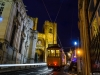 lisbon tram at night photography by messagez.com_
