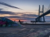 Lisbon Vasco da Gama Bridge at Sunrise Photography By Messagez.com