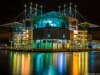 Original Lisbon Oceanarium Reflection at Night Photography By Messagez.com